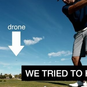 1ST GOLF COURSE VLOG//LET'S SEE IF WE CAN HIT MY DRONE!