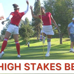 BROTHERS VS SISTERS/9 HOLE GOLF MATCH!