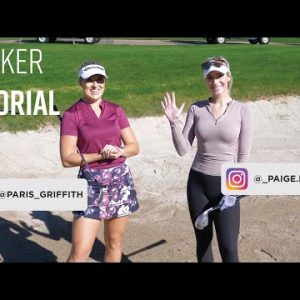 BUNKER TUTORIAL // GOLF WITH PARIS GRIFFITH & GOLFHOLICS