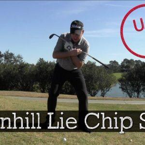 Hitting Chip Shots on Downhill Lies