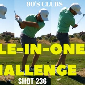 HOLE IN ONE CHALLENGE WITH OUR CLUBS FROM HIGH SCHOOL!
