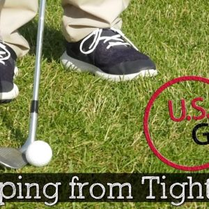 How to Chip from Tight Lies (GOLF CHIPPING TIPS)