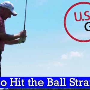 How to Hit a Golf Ball Straighter (GOLF SWING TIPS)