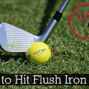 How to Hit Irons Flush on Command (Golf Drills)
