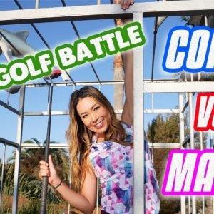 MINI GOLF BATTLE/COACH VS MAIYA