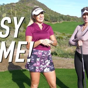 PAIGE & PARIS PLAY RYDER CUP FORMAT/WHAT CAN THEY SHOOT?