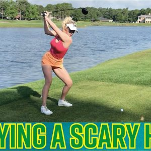 Playing a SCARY HOLE! // How to Avoid Trouble on the Course