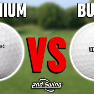 Budget Golf Ball vs. Premium Golf Ball | Titleist Pro V1x & Wilson Duo Soft | Golf Ball Comparison