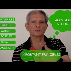 Exercise principles for simple golf warm up stretches and exercises to enhance overall fitness