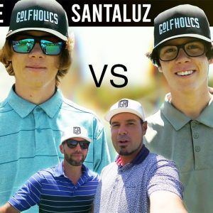 THE TWINS VS GOLFHOLICS/16 YEARS OLD VS 40 YEARS OLD/WHO WINS?