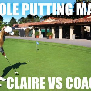 WATCH CLAIRE TEAR UP THE PUTTING GREEN!