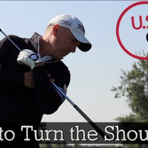 How to Make a Proper Shoulder Turn in Your Golf Swing (Golf Backswing and Downswing)