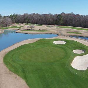 ABERDEEN Golf Course - Meadows 6 Green Flyover