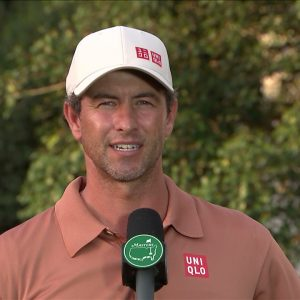 Adam Scott Thursday Flash Interview 2021 The Masters Tournament
