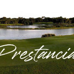TPC Prestancia Palmer Ranch, Sarasota Florida premiere golf club / aerial drone view