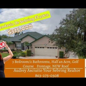 Florida Golf Course Frontage Home Video Tour