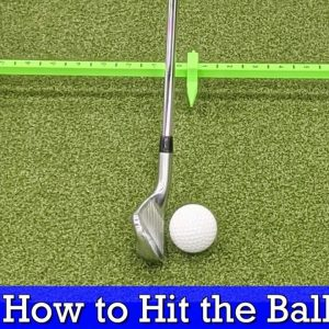 How to Hit the Ball then the Turf With Irons (GOLF SWING BASICS)
