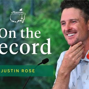 Justin Rose Describes His Tournament-Leading Round | The Masters