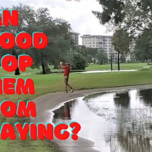 Golf Challenge - Florida Golfers playing in the mudd - the morning after the flood