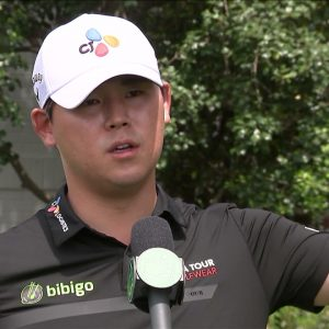 Si Woo Kim Thursday Flash Interview 2021 The Masters Tournament © The Masters