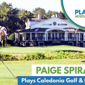 Paige Spiranac Plays Caledonia Golf & Fish Club