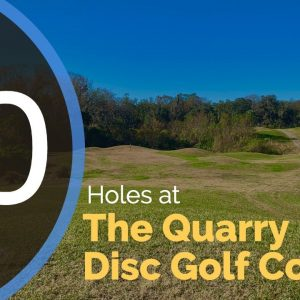 The New Quarry Disc Golf Course in Florida - Full walkthrough and 10 hole round played by a beginner