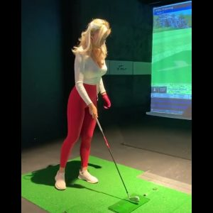How far do you hit your 8 iron  Paige Spiranac golf swing
