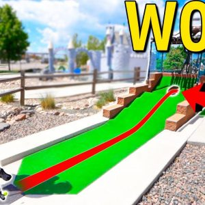We Have Never Seen A Mini Golf Course Do This! - Epic Holes In One!
