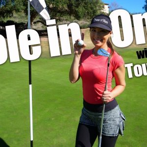 OH MAIYA GOODNESS SHE DID IT! FIRST HOLE IN ONE ON THE CHANNEL! MADERAS GOLF CLUB.
