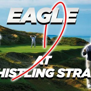COACH GETS AN EAGLE AT WHISTLING STRAITS THE STRAITS COURSE! RYDER CUP 2021!