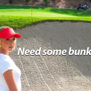 HOW TO EASILY HIT A BUNKER SHOT WITH CLAIRE AND PARIS!