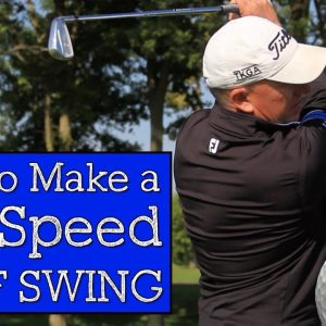 How to Make a Full Speed Golf Swing - Vertical Line Swing Lesson