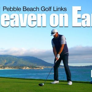 THE MEMORABLE 18TH HOLE AT PEBBLE BEACH GOLF LINKS!
