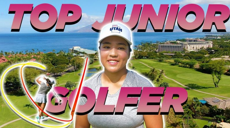 TOP JUNIOR GOLFER ARDEN TAKES ON COACH AT WAILEA!